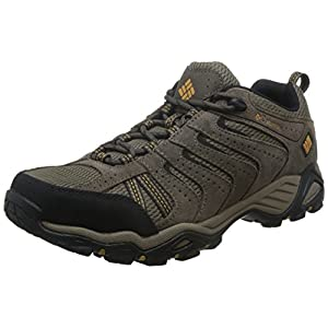 Columbia Men's North Plains Ii Hiking Shoe, Wet Sand, Squash, 9.5 D US