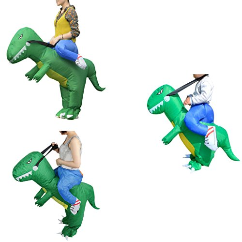 mk. park - Inflatable Adult Kids Dress Up Riding Costume T-Rex Dinosaur Fancy Dress Suit (Adult suit (Captain Caveman Costume)