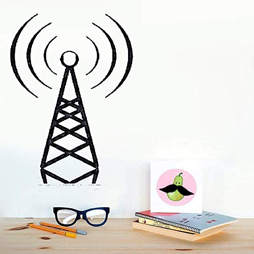 Family-decal Wall Stickers Art Decor Decals Station Radio Wave Beacon