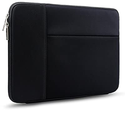 HSEOK Laptop Sleeve, Waterproof Neoprene Case Bag Cover for 12.9 iPad Pro / 13.3 Inch Notebook Computer / MacBook Air / MacBook Pro with Side Pocket for Small items, Black