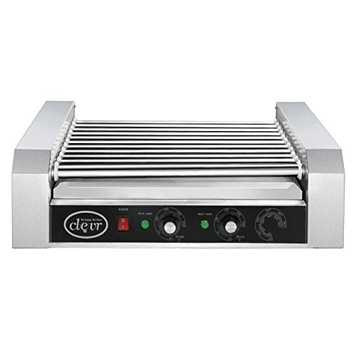 Clevr Commercial 11 Roller and 30 Hotdog Grill Cooker Warmer Hot Dog Machine by Clevr (Image #4)