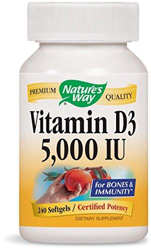 Nature's Way Vitamin D3 5,000 IU Softgel, 240 Count
