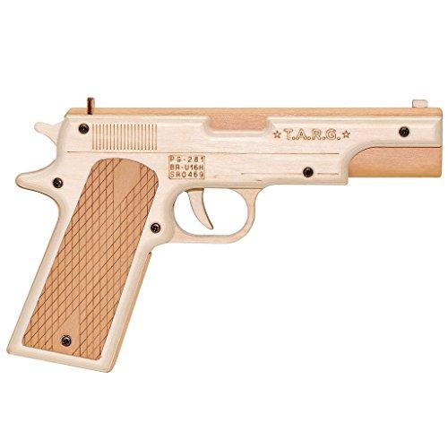 Toy Gun Colt Model 1911. DYI Wooden Model 1:1 by TARG. Assemble & Play kit.