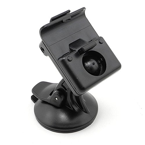 Garmin Nuvi 350 Accessories - iSaddle CH-155-159 Car Suction Cup Mount Holder with USB Charger Adapter for Garmin GPS Nuvi 370 360 350 310 300