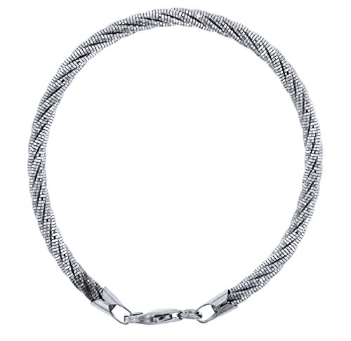 Officina Bernardi Sterling Silver 5 Row Spring Bracelet (8) by Officina Bernardi