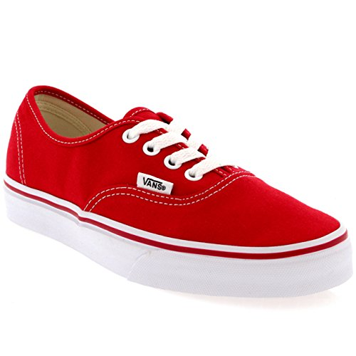 Vans Authentic Unisex Skate Trainers Shoes Red 7.5 B(M) US Women / 6 D(M) US Men