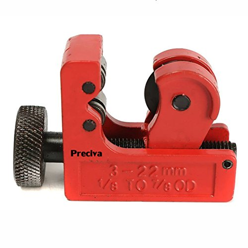 Preciva Mini Tube Cutter 3-22mm PVC Slice Copper Pipe Cutter Aluminum Tubing Pipe Cutting Tool (Pipe Tube Slice)