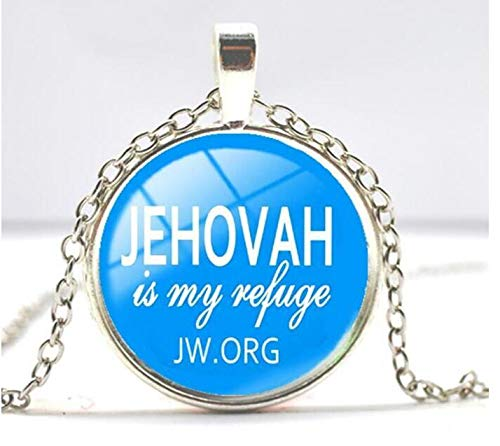 JW org Pendant Jehovah's Witnesses Pendant Glass Photo Necklace Time gem Jewelry