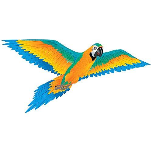 Wind N Sun 3 D Nylon Blue Macaw   74 Inch Wingspan