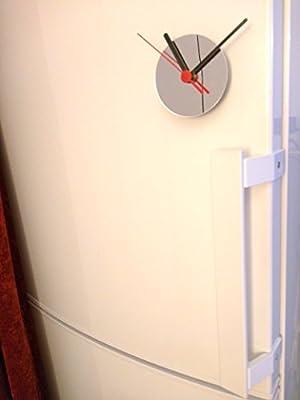 Maquinaria de reloj con iman para nevera con espejo: Amazon.es: Hogar