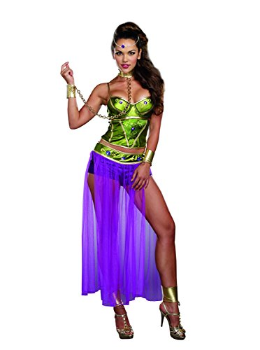 Sexy Slave Princess Costumes (Dreamgirl Women's Galactic Slave Princess Costume, Multi, Large)