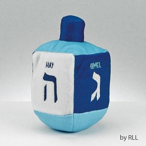(Plush Embroidered Musical Dreidel Blue and White)