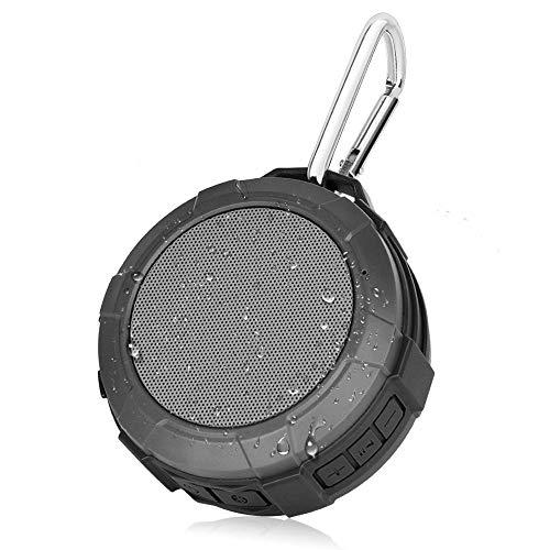 Lerdy Shower Speaker, IPX5 Wireless Waterproof Speaker with 4W Drive, Suction Cup, Buit-in Mic (Gray) ()