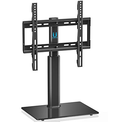 Flat Screen Tv Stands Mounts - FITUEYES Universal TV Stand Base Swivel Tabletop TV Stand with Mount for 32 inch to 55 inch Flat Screen Tvs/Xbox One/tv Component/Vizio TV VESA 400x400mm (TT104501GB)
