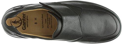 Ganter HUGO, Weite H - Zapatillas de casa de cuero hombre Beige (schwarz 0100)