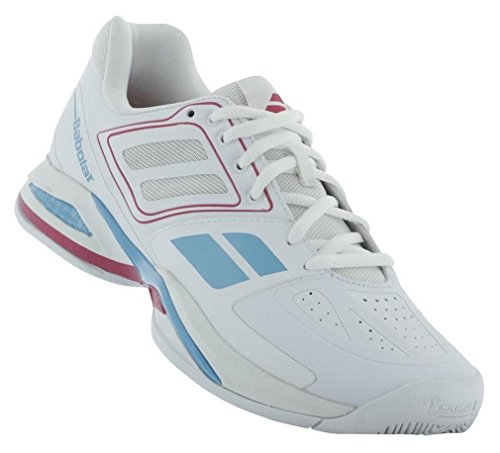 Babolat Propulse Team All Court Womens Tennis Shoe (6.5, White/Pink)