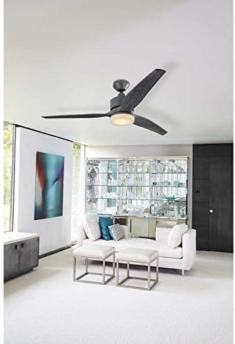 Harbor Breeze Fairwind 60-in Galvanized Integrated Led Indoor/Outdoor Downrod Mount Ceiling Fan