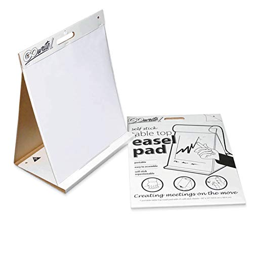 GoWrite! PACTSP2023 Self-Adhesive Dry Erase Table Top Easel, White, 20