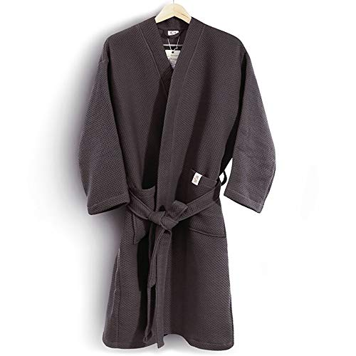 Casual Nero Servizio Tasche E colore Pigiama Family Cotton L Dimensioni Unisex Spa Sauna Nero Accappatoi Luxury xXnY0Zw0q