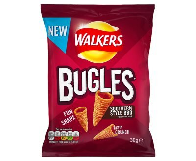 Walkers Bugles Southern Style BBQ Snacks (30g x 32)