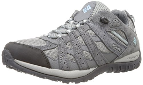 Columbia Women's Redmond Trail Shoe, Boulder/Sky Blue, 9 M US by Columbia