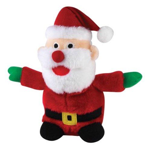 Zanies Plush Holiday Friend Santa Dog Toy, 9-Inch, My Pet Supplies