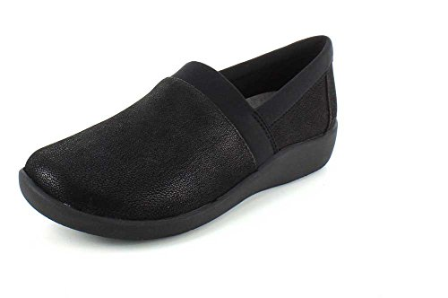 CLARKS Damen CloudSteppers Sillian Blair Slip-On Loafer Schwarz