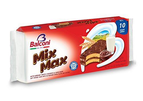 Balconi Mix Max Snack Cake, Cocoa, 12.34 Ounce (Pack of 15) (Balconi Mix)