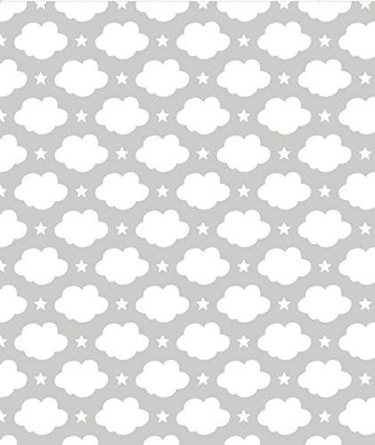 Lilipinso Papier Peint Nuages Et Etoiles Blanc L Atelier Des Pieds