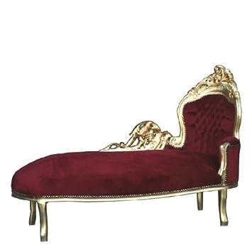 Casa Padrino Barock Chaiselongue \'King\' Bordeaux/Gold - Recamiere ...