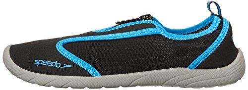Speedo Women's Zipwalker 4.0 Athletic Water Shoe, Black/Turquoise, 8