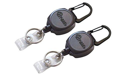 Key-Bak Sidekick Professional Heavy Duty Self Retracting ID Badge / Key Reel with Retractable Kevlar Cord, 24