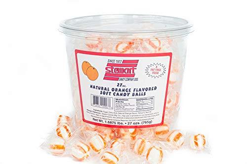 - Stewart Soft Candy Balls - Orange Flavor - 160 ct Tub