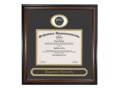 (Signature Announcements Pepperdine-University Undergraduate, Professional/Doctor Sculpted Foil Seal & Name Graduation Diploma Frame 16