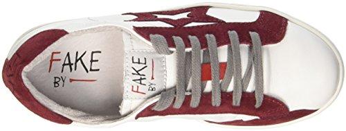 Fake By Chiodo Low F 830, Sandalias con Plataforma Unisex Adulto Rosso (Bianco/ Porpora)
