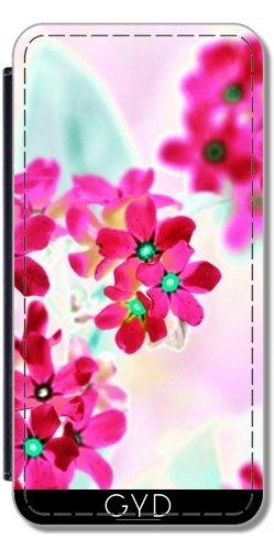 Funda Carcasa Cubierta de PU Cuero para Huawei P10 - Flores De Color Rosa Ii by LoRo-Design