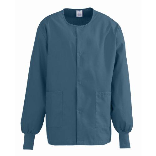 Medline ComfortEase Unisex Warm-Up Scrub Jacket, Large, - Jacket Medline Womens