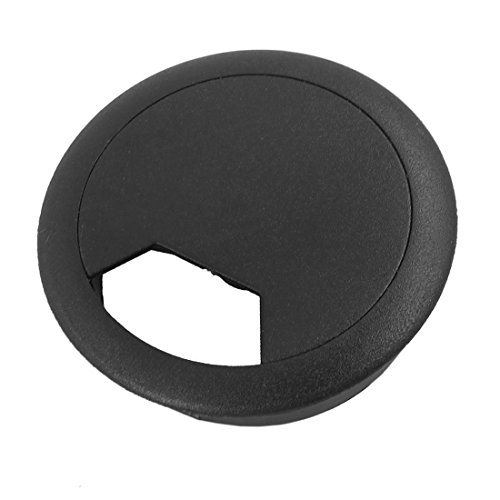 SODIAL(R) Hole Cover 2 Pcs 50mm Diameter Desk Wire Cord Cable Grommets Hole Cover Black