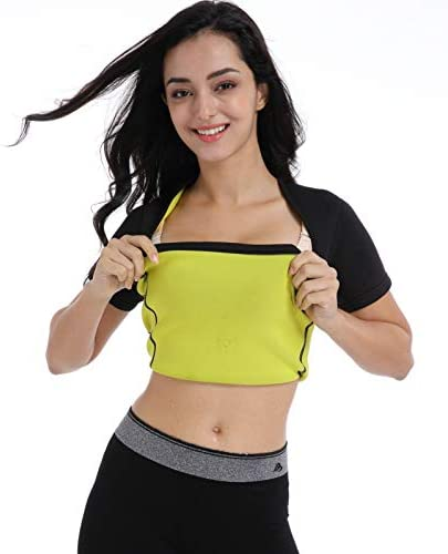 Ausom Womens Slimming Shaper T Shirt- Hot Thermo Shapewear- Exercise & Workout Sauna Suit- Abdominal Trainer- Upper Body Fat Burner for Weight Loss 4