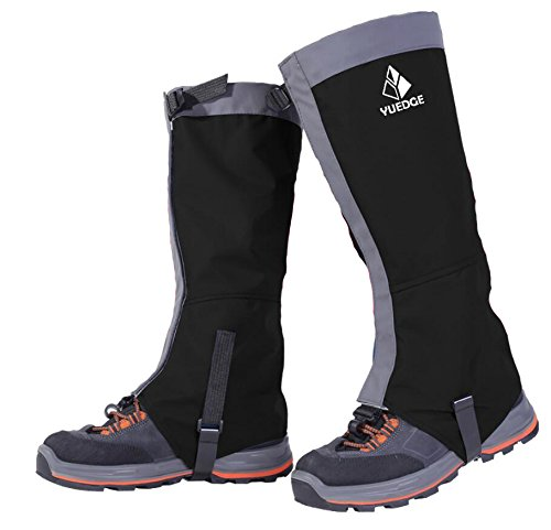 Waterproof Snow Leg Gaiters - YUEDGE Unisex(Front Opening Velcro Design) Lightweight Waterproof Breathable High Gaiters For Outdoor Walking Hiking Fishing Research Hunting Trimming Grass