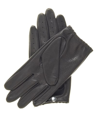 Pratt and Hart Women's Deerskin Leather Driving Gloves Size XL Color Black