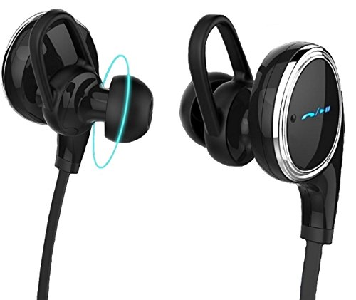 E Tronic Edge Slim Sports Bluetooth Earbuds Headset with Bass and Mic