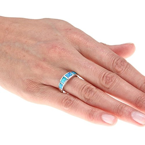 Opal Wedding Bands 56 Perfect