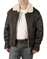 Simons Leather Men's Straight Zip Sheepskin Flying Jacket