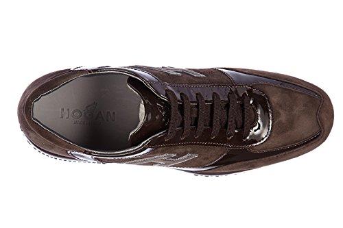 Hogan chaussures baskets sneakers femme en daim interactive h flock altraversion