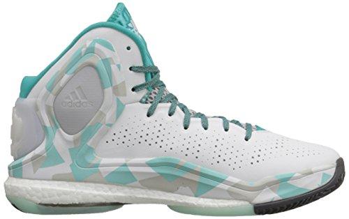 Rendement Adidas Mens D Augmenté De 5 Boost Chaussure De Basket Blanc / Gris / Bleu