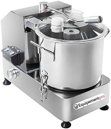 equipementpro – {HR-6} – Copa lègumes – Cutter – Picadora de mesa – velocidad de corte regulable de 1100 A 2800 revoluciones/min – diámetro del robot: 25 cm – Capacidad: 6 litros: Amazon.es: Hogar