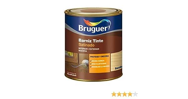BRUGUER Barniz Tinte Sat.BRUGUER INCOLORO 250 ML, Negro: Amazon.es ...