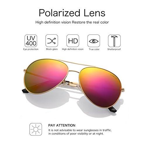 8229e7263f En venta LUENX mujer Gafas de sol Aviador polarizado con estuche - UV 400  Espejo de