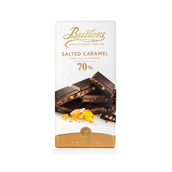 Butlers 70% Dark Salted Caramel Chocolate Bar, 100g